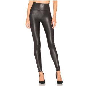 Spanx Faux Leather Leggings Black Medium Jegging